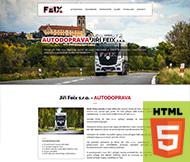 WWW stránky autodopravy Jiří Feix s.r.o.