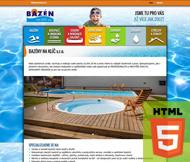 WWW stránky firmy Bazény na klíč, Mělník