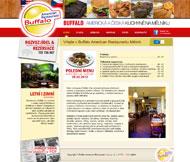 WWW stránky společnosti Buffalo Restaurant s.r.o., Mělník