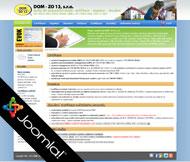 WWW stránky společnosti DOMZO 13