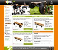 WWW stránky společnosti Eboards, Hoštka
