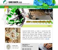 WWW stránky společnosti EUROWASTE a.s.