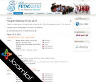 WWW stránky Národního festivalu dechových orchestrů FEDO, Štětí