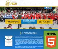 WWW stránky Festivalu dechových orchestru FEDO, Štětí