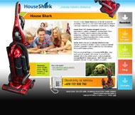 WWW stránky cyklonového vysavače House Shark, Mělník
