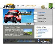 WWW stránky firmy Jiří Marek - Autodoprava, Štětí