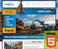 WWW stránky společnosti KOVOŠROT VRAŇANY s.r.o., Praha