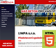 WWW stránky firmy LIMPA s.r.o., Roudnice nad Labem