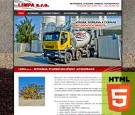 WWW stránky společnosti LIMPA s.r.o., Roudnice nad Labem