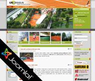 WWW stránky hotelu a sportovního centra LTC Zbraslav, Praha