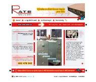 WWW stránky fi. RATE s.r.o., Štětí