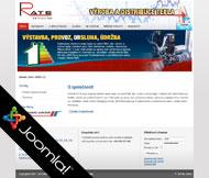 WWW stránky společnosti R A T E s.r.o., Štětí