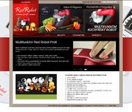 WWW stránky multifunkčního robota Red Robot Profi, Mělník