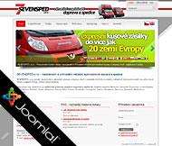WWW stránky společnosti SEVENSPED, s.r.o., Rovné