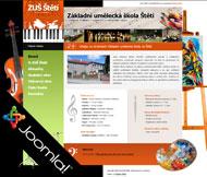 WWW stránky Základní umělecké školy, Štětí